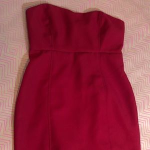 Bright red F21 strapless dress